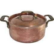 Two Quart Copper Stock Pot