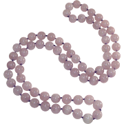 Lavender Jade Bead Necklace