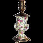 "Vintage Chintz Table Lamp "" Summertime"" Look Alike"
