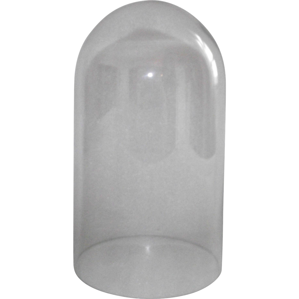 We supply glass domes of various shapes and sizes as well as matching bases. Our inventory includes new glass domes, antique glass domes, and victorian glass domes in round, oval and rectangular. Our domes are frequently used to cover clocks, dolls, collectibles, taxidermy items and keepsakes.