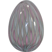 Murano Latticino Glass Daring Egg