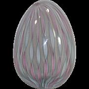Murano Latticino Glass Daring Egg