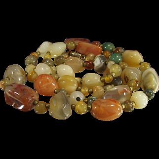 Multi Gemstone Agate Necklace