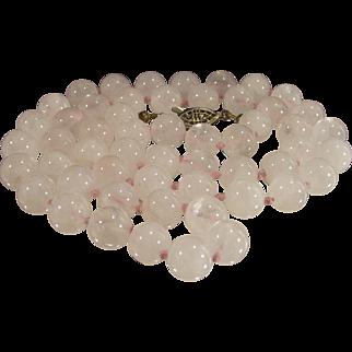 Vintage Rose Quartz Necklace