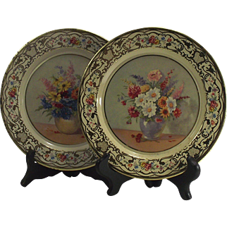 Daher Decorative Ware Flowers Tin Plate Holland