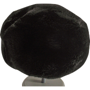 Sheered Black Faux Fur Ladies Hat