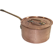 Vintage French Copper Sauce Pot with Original Lid #16