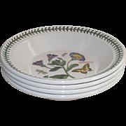 Portmeirion Botanic Garden Flat Soup Bowl set of 4