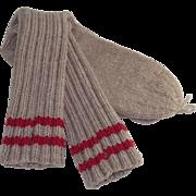 Vintage Mid Century Hand Knit Woolen Socks