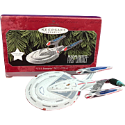 Vintage 1998 Star Trek First Contact USS Enterprise NC-1701-E Hallmark