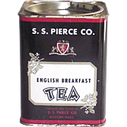 Vintage Tea Tin S.S.Pierce English Breakfast