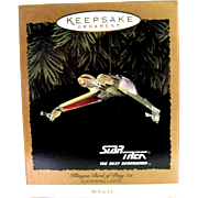 Vintage Star Trek Klingon Bird of Prey with Flickering Lights 1994