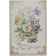 Victorian Raphael Tuck Christmas Card Embossed and Die Cut