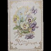 Victorian Raphael Tuck Christmas Card Embossed and Die Cut