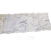 Vintage Edwardian Bridal Lace Yardage  46 Inches Long
