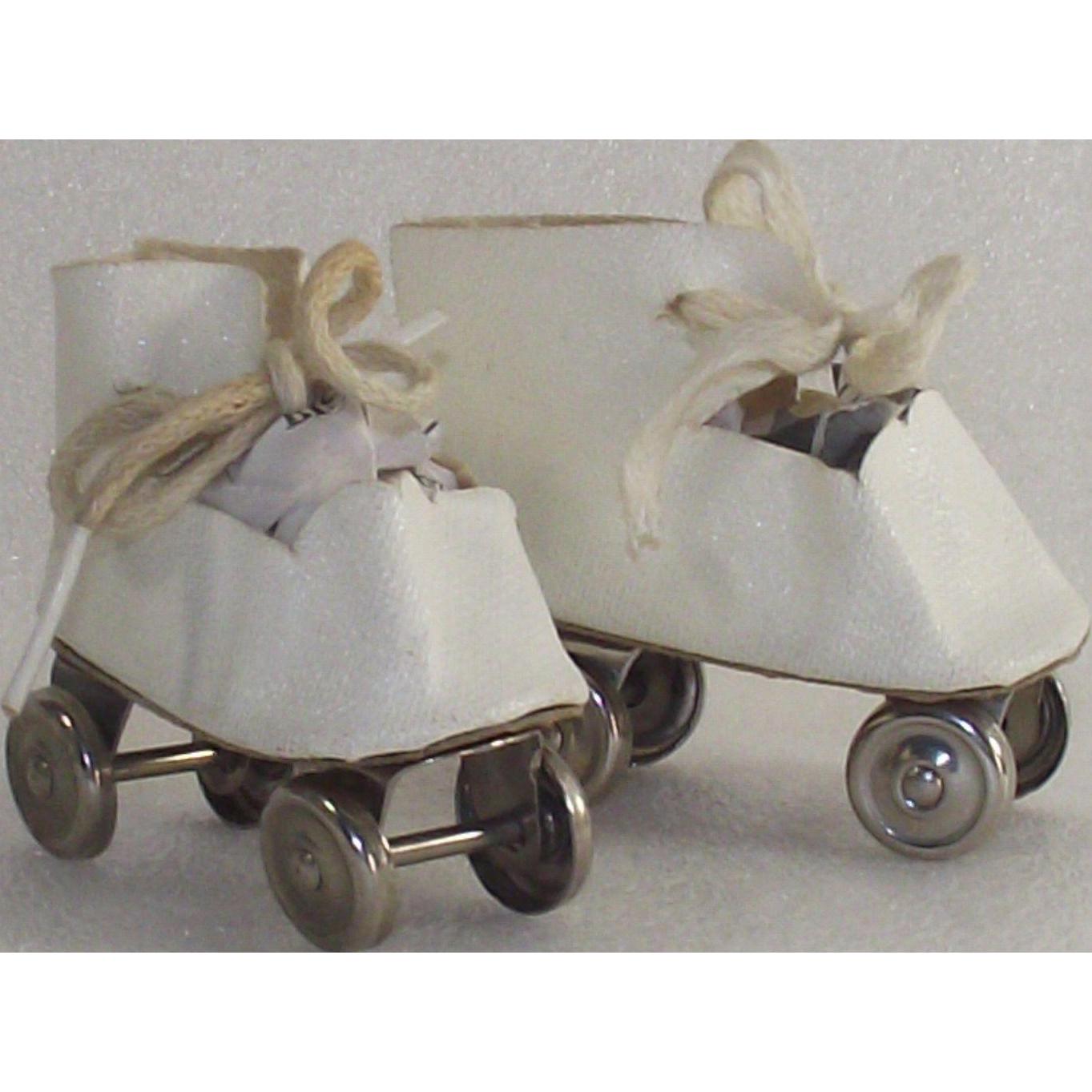 Vintage Mid Century Doll Roller Skates