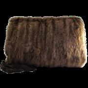 Vintage Fur Muff with Fur Tail Tassels