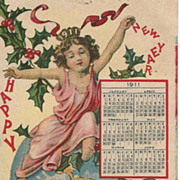 1911 New Years Post Card