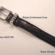 "Brighton Ladies Belt XL 36"" Vintage 1990s"