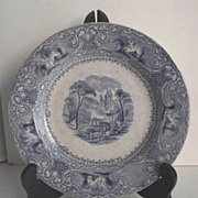 "Wedgwood Light Blue Transfer 8"" Plate Circa 1860s"