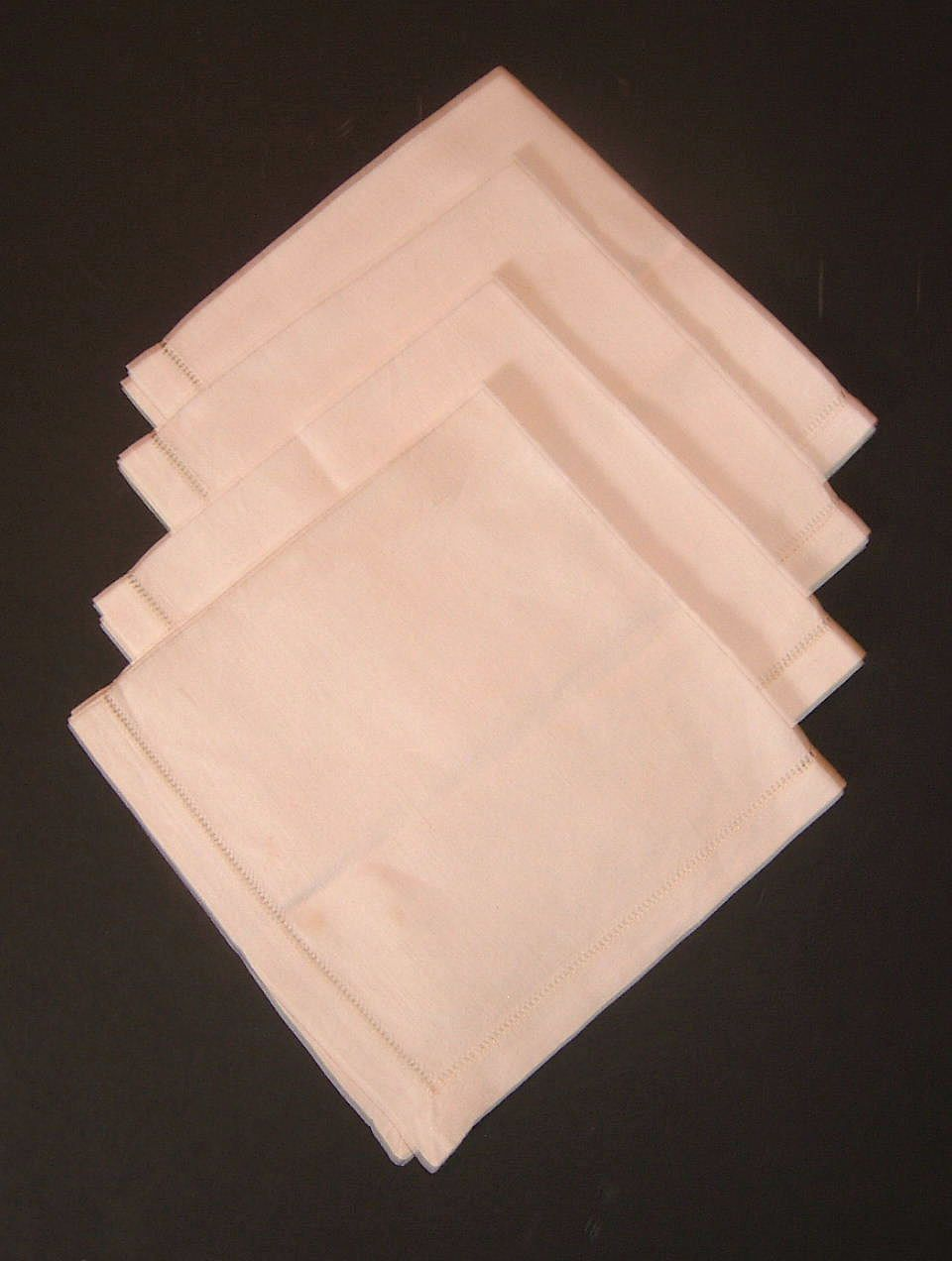 Linen Breakfast Tray Napkins  4 Piece Set