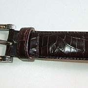 Classic Style Talbot's Embossed Leather Italian Ladies Belt XL