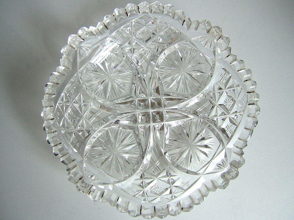 Brilliant Period Cut Glass Small Shallow Bowl