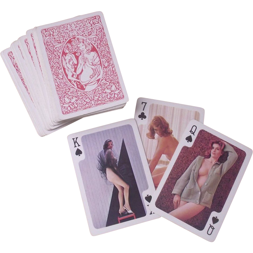 Vintage Cherchez de Femme C. 1960 Girlie Playing Card's Full Set