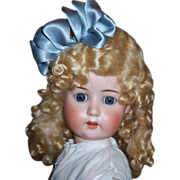 """SALE Lovely Antique German Bisque Head Doll by Wm. Goebel Co. Mold 120. 24""""  Display Ready - Red Tag Sale Item"""