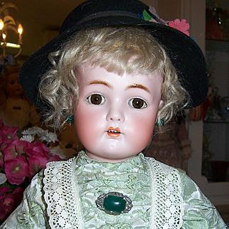 "21"" Kammer Reinhardt / Simon Halbig Antique Bisque Head Doll. Orig Body & Wig. Display Ready."