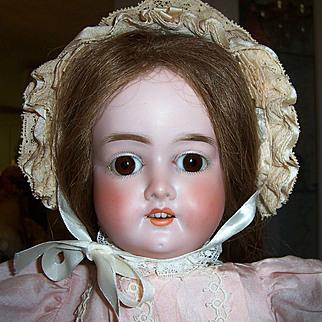 "20"" Schoenau Hoffmeister Antique German Bisque Head Doll. Darling. Display Ready"