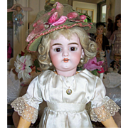 "16"" Early Simon & Halbig 1079 DEP Petite Antique Bisque Head Doll. Display Ready. Adorable - Red Tag Sale Item"