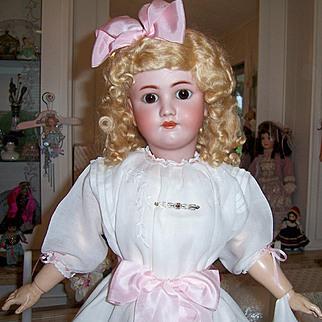 "27"" Heinrich Handwerck Antique German Bisque Head Doll. Stunning, Display Ready Head by Simon & Halbig"