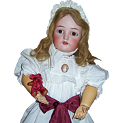"ON SALE 22"" Kammer Reinhardt with Rare Voice Box & Pull Cords. Antique Bisque Head Doll. Head by Simon Halbig. Display Ready"