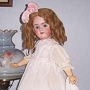"26"" Heinrich Handwerck 99 DEP Doll. Head by Simon & Halbig. Display Ready. Gorgeous!"