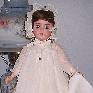 "Sweet Simon & Halbig Heinrich Handwerck 21"" Antique German Bisque Head Doll. Display Ready."