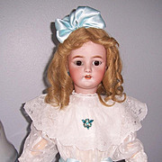 "27"" C. M. Bergmann Doll, head by Simon & Halbig, an Antique German bisque head display ready doll. Stunning!"