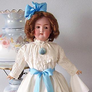 "24"" J.D. Kestner Antique German Bisque Head Doll, Mold #168. Display Ready"