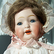 "10"" Antique Bisque Head Baby Doll. Morimura Brothers, Japan. Display Ready. Adorable"