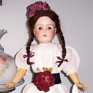 "28"" J.D. Kestner Antique German Bisque Head Doll 196 mold. Beautifully dressed. Display Ready"