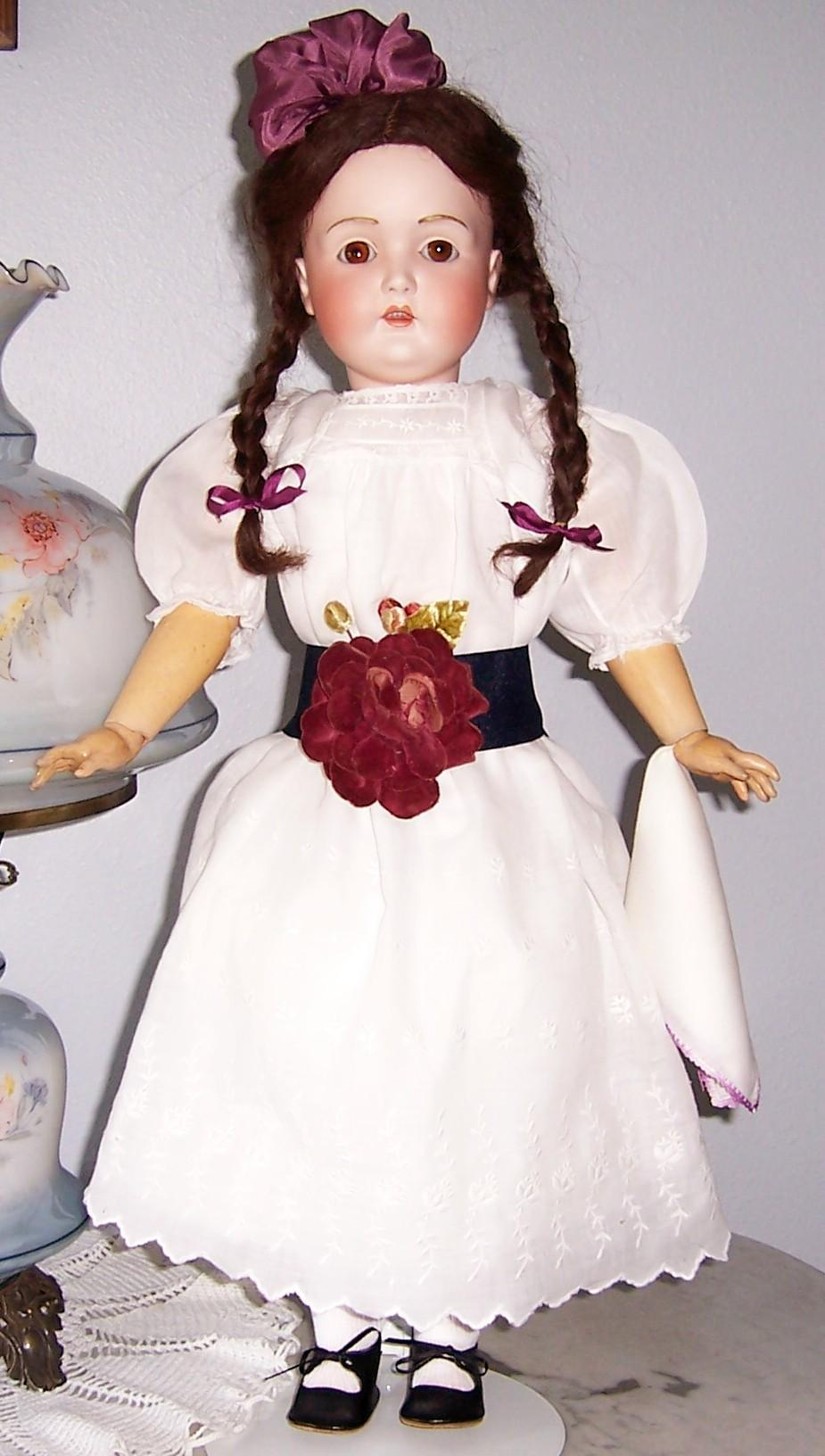 "28"" J.D. Kestner Antique German Bisque Head Doll 196 mold. Beautifully dressed. Display Ready"