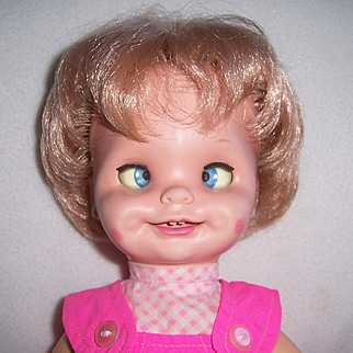 """MATTEL Saucy Funny Faces 15"""" All Original Doll 1972."""