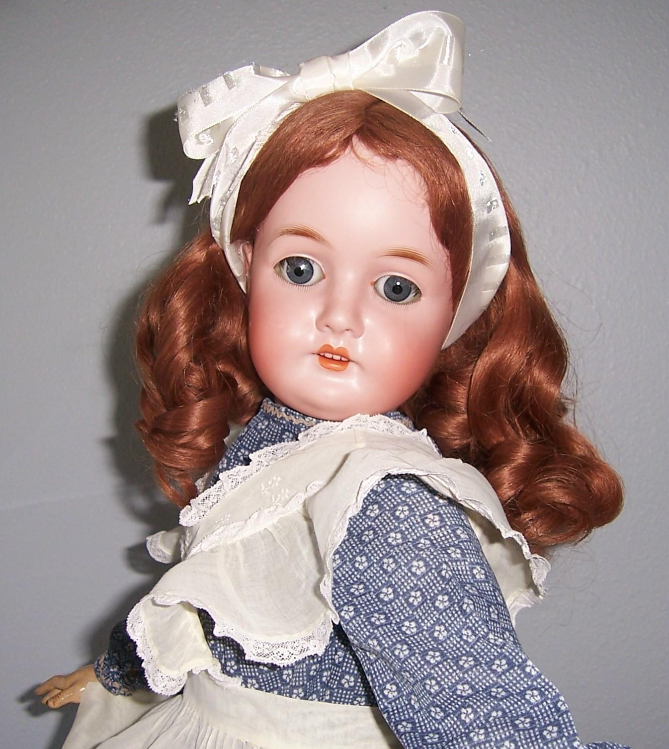 """26"""" Queen Louise Antique German Bisque Head Doll by Armand Marseille. Display Ready."""