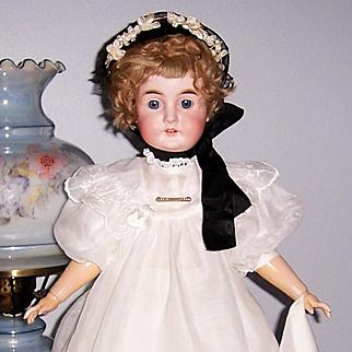 "26"" Karl Hartman Antique German Bisque Head Doll. Beautifully Dressed. Display Ready."