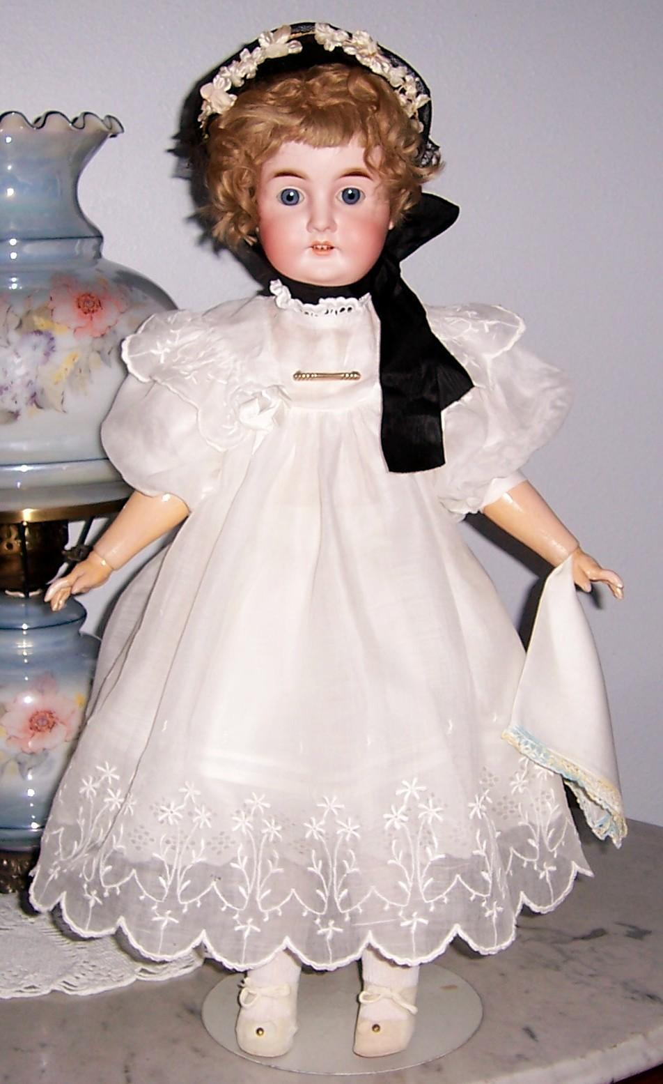 "ON SALE 26"" Karl Hartman Antique German Bisque Head Doll. Beautifully Dressed. Display Ready."