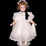 "ON SALE 26"" Karl Hartman Antique German Bisque Head Doll. Beautifully Dressed. Display Ready."