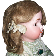 Antique Mohair Wig for French or German Doll. Ash Blonde. Size 12 w Original Pate