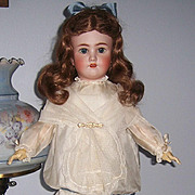 "ON SALE Large 28+"" Heinrich Handwerck Simon & Halbig Antique Bisque Head German Doll. Display Ready. Lovely!"