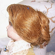 Sm French Fashion Doll Wig & Cork Pate Original. Antique Human Hair Size 7 for your Fashion Lady.