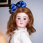 "Large Lovely 30"" Antique German Bisque Head Doll. C M Bergmann / Simon Halbig Display Ready"